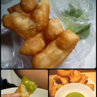 Food Friday - Deep fried yumminess and Green custard!