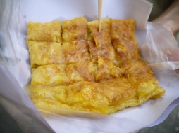 Roti stuffed with Banana