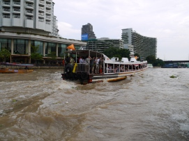 A busy boat on the Saen Saeb canal