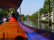 Riding the boat on Khlong Phra Khanong