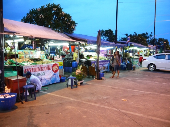 Seafood stalls near the parking lot, Koh Loi