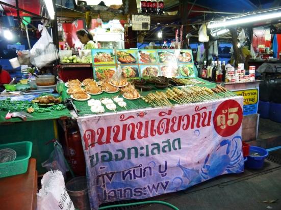 Seafood on display in Si Racha