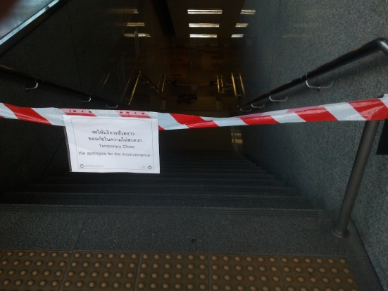 MRT closed stairs