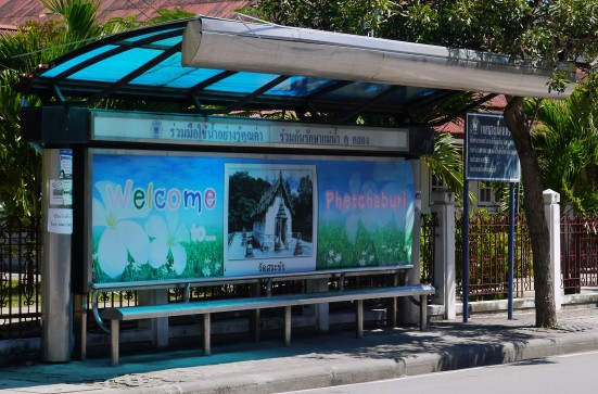 Welcoming bus stop in Phetchaburi