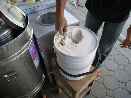A fresh batch of ice cream