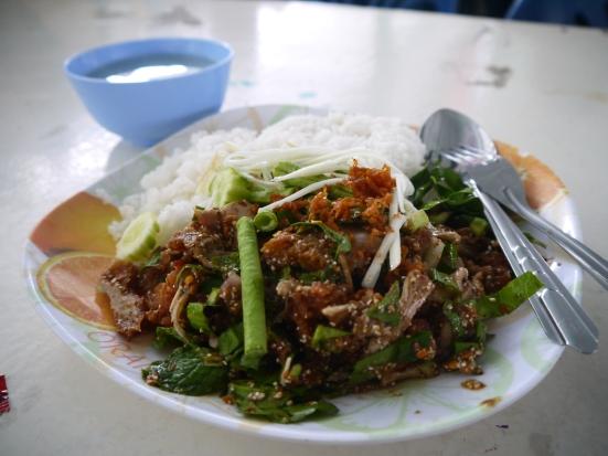 Gai Tort (Fried Chicken) in Asoke