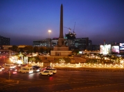 Victory Monument at Night