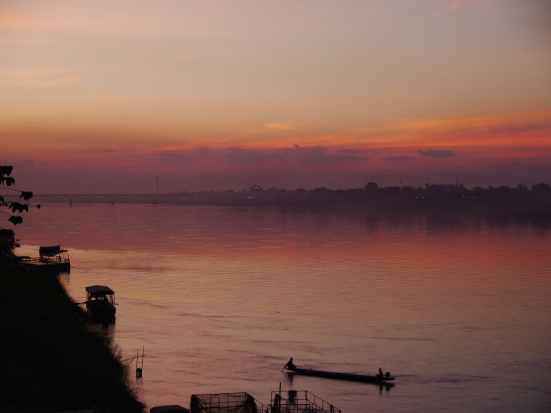 Sunset Mekong River